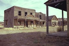 Old movie set in Utah, not an abandon town in West Texas.