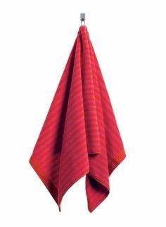 Ujo-käsipyyhe (punainen,punainen)  Sisustustuotteet, Kylpyhuone, Pyyhkeet, Käsipyyhkeet   Marimekko