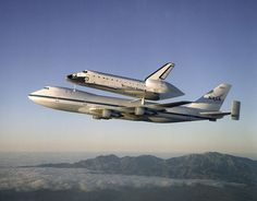 This looks so unreal! Love looking at shuttle carrier aircrafts!
