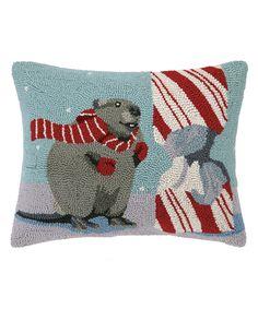 This The Beaver Hook Pillow by Peking Handicraft is perfect! #zulilyfinds