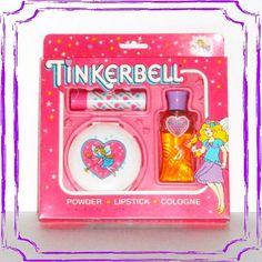 Let's see which 80s girls remember this one... My introduction to the world of cosmetics!  #80s #tinkerbell #makeup #cosmetics #perfume #lipstick #perfume #ilovethe80s #childhoodmemories #nostalgia #totally80s #rememberthis #80sgirl #eightiesgirls #retro #vintage #backintheday #flashbackfriday #fbf #want