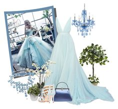 """Garden Gala"" by kimzarad1 ❤ liked on Polyvore featuring Dauphine, Judith Leiber, Cecelia, Pier 1 Imports, AF Lighting and Nearly Natural"