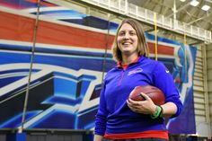 Coach Rex Ryan and the Buffalo Bills broke the league's gender barrier by promoting the 30-year-old Smith to be their special teams quality control coach.