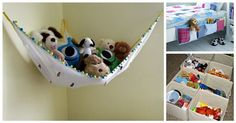 Storing and organizing stuffed animals has never been easier! Instead of a giant tub you have to search through, make a stuffed animal net. It hangs from the wall and you can just put all the stuffed animals up there.…Read more → Stuffed Animal Net, Stuffed Animals, Toy Room Organization, Playroom Storage, Playroom Design, Playroom Ideas, Toy Rooms, Inspiration For Kids, Baby Play