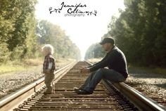 Family Photography : Father & Son Railroad | Jennifer Collins Photography : Florence SC