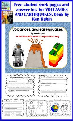 Parts of a volcano printable volcano worksheets places to visit free work pages for the book volcanoes and earthquakes by ken rubin publicscrutiny Images