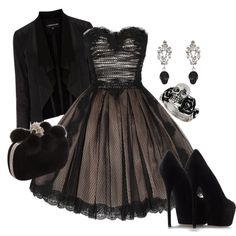 """Punk Prom"" by midnightchance on Polyvore  Not something I'd wear but very classy and beautiful"