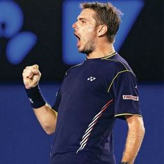 A winning roar Stan Wawrinka, Tennis Players, The Man, Sporty, Mens Tops, T Shirt, Style, Fashion, Moda
