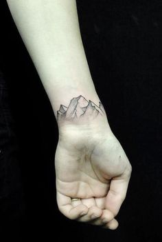 Beautiful mountain tattoo