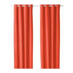 IKEA - SANELA, Rideau, 2 panneaux, , Les rideaux épais assombrissent la pièce et protègent l