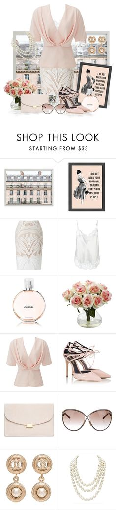 """5th Avenue to Paris"" by love-n-laughter ❤ liked on Polyvore featuring Lipsy, Givenchy, Chanel, Nearly Natural, TY-LR, Fratelli Karida, Mansur Gavriel and Tom Ford"