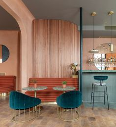 The east London design office headed by Tatjana von Stein and Gayle Noonan worked alongside restaurateur and hotelier Omar Shabaan to develop his first premises in the UK capital. #restaurantdesign