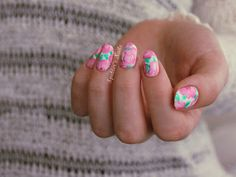Spektor's Nails: Watercolor Flower Nails