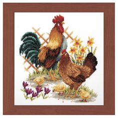 Chicken Family Counted Cross Stitch Kit - Cross Stitch, Needlepoint, Embroidery Kits – Tools and Supplies
