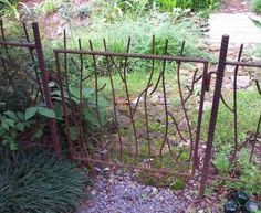 rebar art ideas | These pieces would look great in any garden, not too sure about that ...
