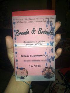 Diseño de invitación Xv años.. Con papel albanene/ papel cebolla..