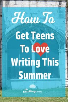 """Have you heard of """"summer slide""""? What can you do to get teens to write this summer? Check out 5 fun ways to keep your teen (or English students) writing! Free Teaching Resources, Writing Resources, Teaching Tips, Writing Ideas, Teaching Strategies, Teaching Grammar, Teaching Writing, Teaching English Online, Learning English"""