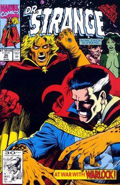Dr Strange, Sorcerer Supreme #36, December 1991, cover by Dan Lawlis and Andrew Prepoy