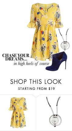 """""""Chase your dreams : Pearl and Heels"""" by pollypocket-erm ❤ liked on Polyvore featuring Uno de 50 and Christian Louboutin"""