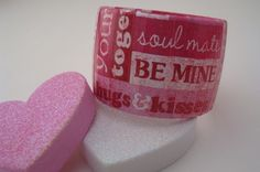 Be My Valentine Bracelet MADE TO ORDER by Funkychunkies on Etsy, $20.00