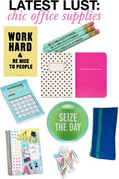 latest lust: chic office supplies