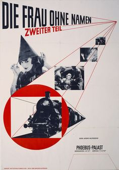 "Jan Tschichold. Die Frau ohne Namen 1927. Offset lithograph, 48 3⁄4 x 34"" (123.8 x 86.4 cm). The Museum of Modern Art. Peter Stone Poster Fund"