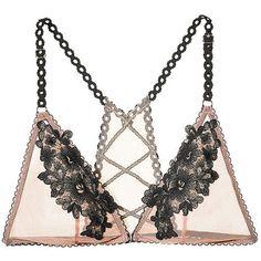 Triangle ($23) ❤ liked on Polyvore featuring intimates, bras, velvet bra, triangle bras, victoria secret bra, victoria's secret and bralette bras