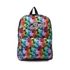 Take a stand for our furry feline friends with the new ASPCA Rainbow Kitty Backpack from Vans! The American Society for the Prevention of Cruelty to Animals teams up with Vans to bring you this epic backpack, featuring an allover cat print with Vans signature logo patch, and plenty of compartment space for all of your essentials. Available only at Journeys!