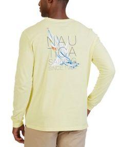Nautica Lemon Sailing Graphic Long Sleeve T-Shirt