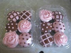 PINK AND BROWN CUPCAKES: Another great color combo.