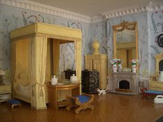 Chinoiserie bedroom | von Sweetington - great pictures /furniture mostly painted playmobil
