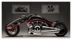 Trident Engined Chopper on Behance