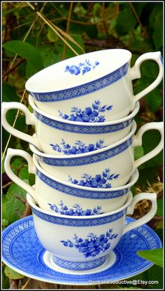 """Churchill's """"Out of the Blue"""" handmade three tier cake stand using finest…"""