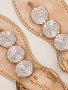 Isko Flat Leather Sandal Snow White