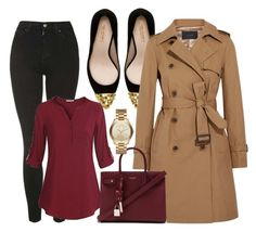 """""""autumn day"""" by asner-bond ❤ liked on Polyvore featuring Zara, J.Crew, Topshop, Yves Saint Laurent and Michael Kors"""