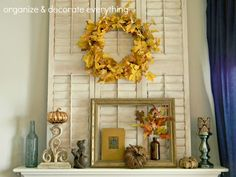 Organize and Decorate Everything: Fall Mantel