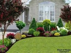 Front Garden Landscape, Small Front Yard Landscaping, Front Yard Design, House Landscape, Outdoor Landscaping, Mailbox Landscaping, Front Yard Gardens, Front Yard Plants, Small Front Gardens