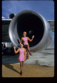The ladies of Pacific Southwest Airlines (PSA).    1960s.