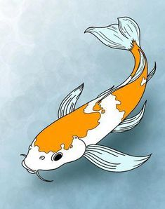 """Koi fish are the domesticated variety of common carp. Actually, the word """"koi"""" comes from the Japanese word that means """"carp"""". Outdoor koi ponds are relaxing. Koi Fish Drawing, Fish Drawings, Art Drawings, Art Koi, Fish Art, Fish Fish, Koi Fish Pond, Fish Ponds, Koi Painting"""
