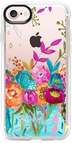 Casetify iPhone 7 Classic Grip Case - bouquet 1 clear case by Bari J. Designs #Casetify