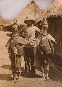 Женщины из племени Падаунг, Бирма, 1913 г.