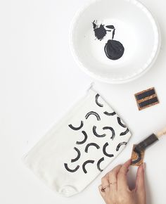 DIY stamped pencil pouches
