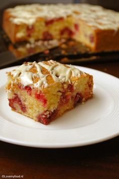 Frambozencake met yoghurt en kokos - Lovemyfood.nl