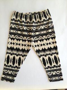 littlefour rayon jersey aztec print toddler leggings handmade in san francisco 2t 3t 4t.
