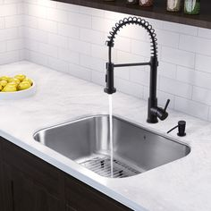 30 Inch Undermount Single Bowl 18 Gauge Stainless Steel Kitchen Sink With  Edison Matte Black Faucet