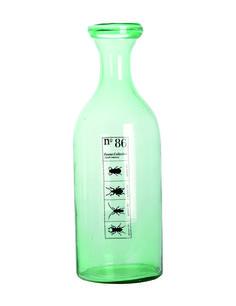 Duża butelka z zielonego szkła .