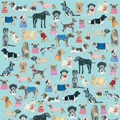 Fancy Dogs Gift Wrap at Bas Bleu | UK1072