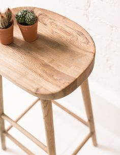 Rose and Grey weathered oak stool £125