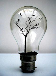 A dark yet beautiful twist on the mini terrarium idea