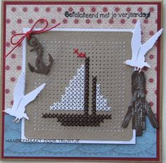 Trijntjes Maps: Maritime map with cross stitches - Trijntjes Maps: Maritime map with cross stitches - Cross Stitch Freebies, Cross Stitch Bookmarks, Mini Cross Stitch, Cross Stitch Cards, Cross Stitch Borders, Cross Stitch Flowers, Cross Stitch Kits, Cross Stitch Designs, Cross Stitch Patterns